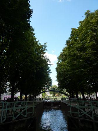 Une écluse du canal Saint-Martin