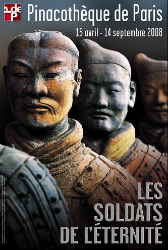 """Affiche """"Les soldats de l'éternité"""" - Pinacothèque"""