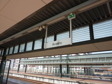 Gare d'Aveiro au Portugal